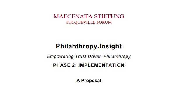Empowering Trust Driven Philanthropy – Phase 2: Implementation – A Proposal