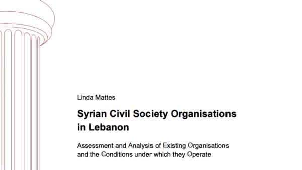 Syrian Civil Society Organisations in Lebanon