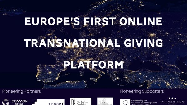 Launch of Europe's first online Transnational Giving Platform