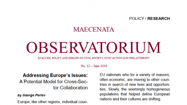 Addressing Europe's Issues: A Potential Model for Cross-Sector Collaboration
