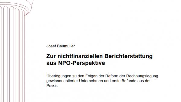 Zur nichtfinanziellen Berichterstattung aus NPO-Perspektive