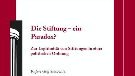 Die Stiftung – ein Paradox?