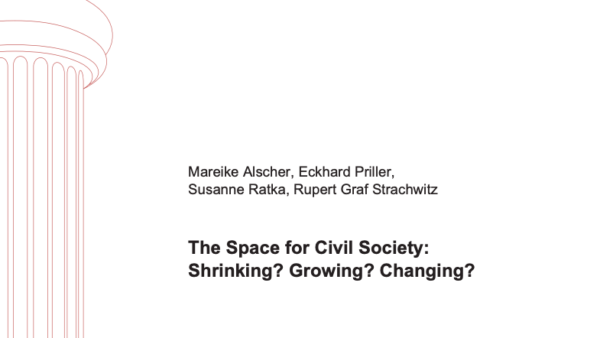 The Space for Civil Society: Shrinking? Growing? Changing?