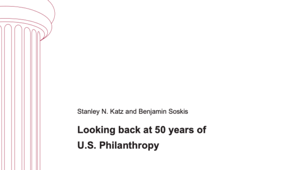 Looking back at 50 years of U.S. Philanthropy