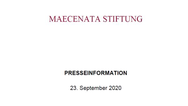 PRESSEINFO: Stiftungsrat der Maecenata Stiftung neu gewählt