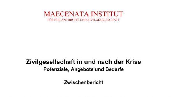 Zwischenbericht und Exposé: Studie zum Rettungsschirm für die Zivilgesellschaft