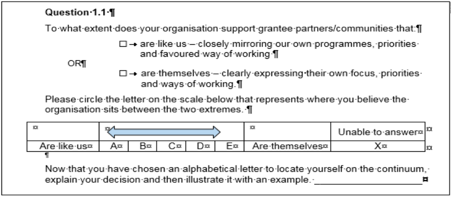 Figure 1: Example of question structure and phrasing