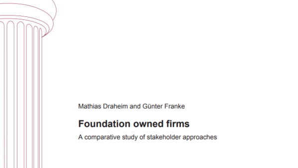 Foundation owned firms – A comparative study of stakeholder approaches