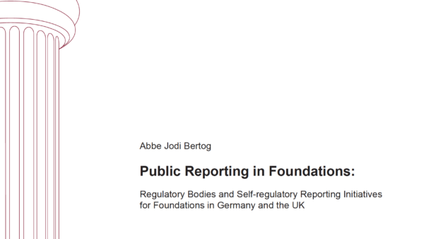 Public Reporting in Foundations