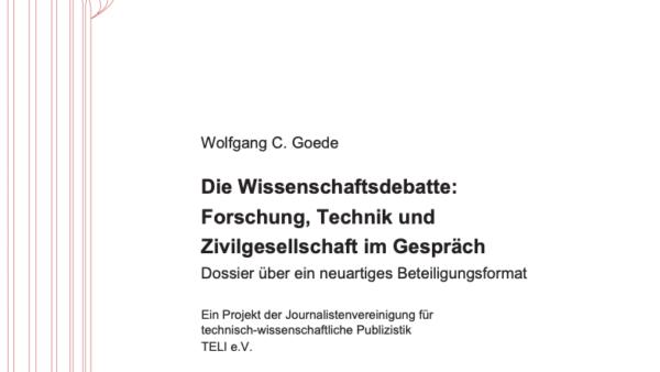 Die Wissenschaftsdebatte: Forschung, Technik und Zivilgesellschaft im Gespräch
