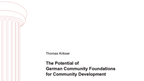 The Potential of German Community Foundations for Community Development