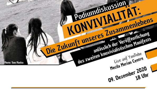 """Online-Podiumsdiskussion: Podiumsdiskussion """"Konvivialität: die Zukunft unseres Zusammenlebens"""""""
