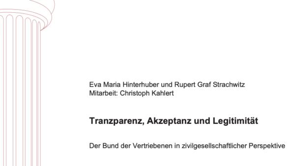 Transparenz, Akzeptanz und Legitimität