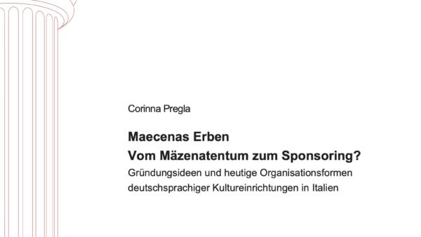 Maecenas Erben Vom Mäzenatentum zum Sponsoring?
