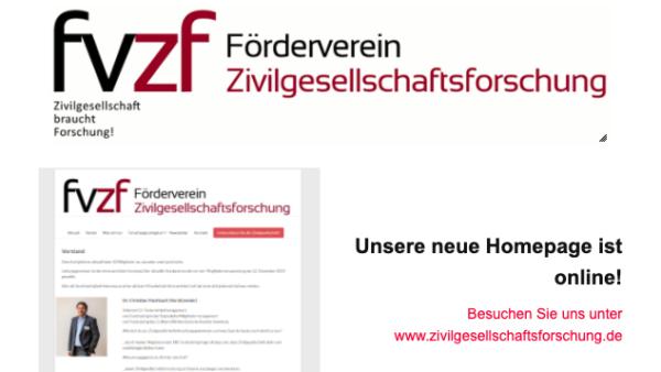Homepage-Relaunch des Fördervereins Zivilgesellschaftsforschung