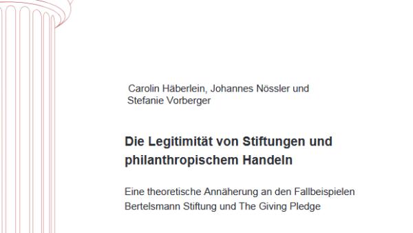 Die Legitimität von Stiftungen und philanthropischem Handeln