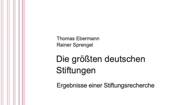 Die größten deutschen Stiftungen