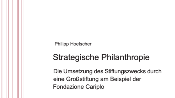 Strategische Philanthropie
