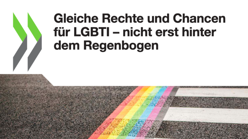 """Die im Juni 2020 veröffentlichte OECD-Studie """"Over the Rainbow? The Road to LGBTI Inclusion"""" ist jetzt auf Deutsch erschienen"""