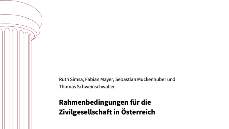 Rahmenbedingungen für die Zivilgesellschaft in Österreich