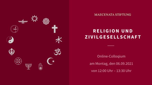Online-Colloqium: Religionsgemeinschaften und Zivilgesellschaft