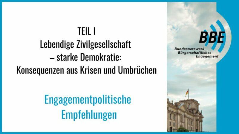 Engagementpolitischen Empfehlungen des BBE für die Wahl zum 20. Deutschen Bundestag